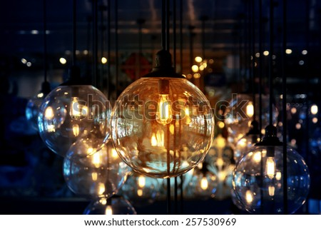 Classic beautiful lighting decoration  - stock photo