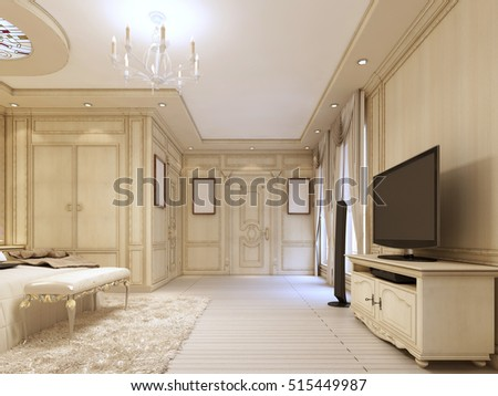 Classic Bedside Table TV Unit Luxurious Stock Illustration 515449987 ...