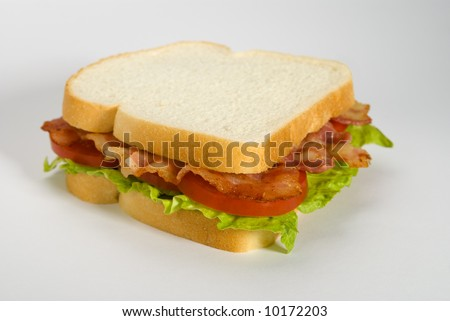Classic BLT on white bread