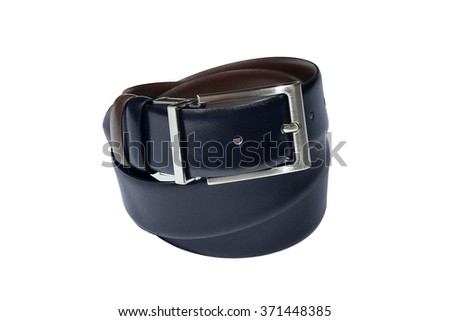 classic blue belt for man