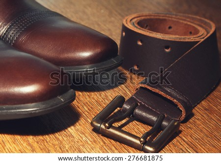 brown leather shoes stock photos images pictures