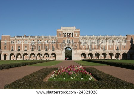Classic building at Rice University, Houston, Texas - stock photo