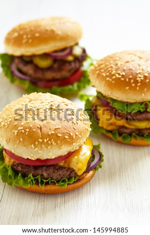 Classic Burgers - stock photo