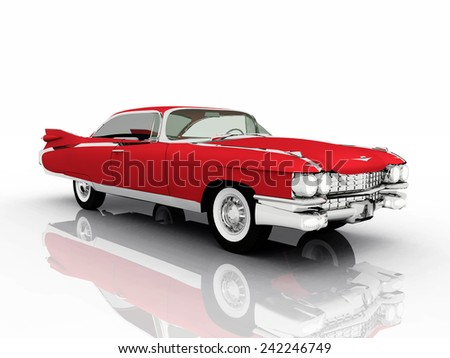 Classic Car Computer generated 3D illustration - stock photo