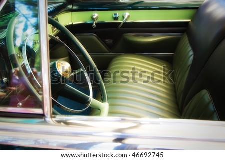 Classic car detail , shallow DOF photo - stock photo