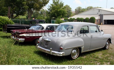 Classic cars - stock photo
