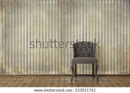 Classic chair in a vintage interior  - stock photo