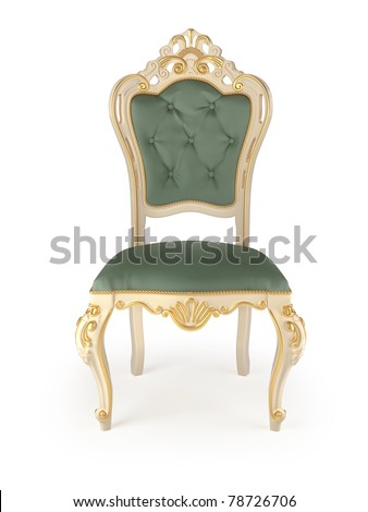 classic chair isolated on white - stock photo