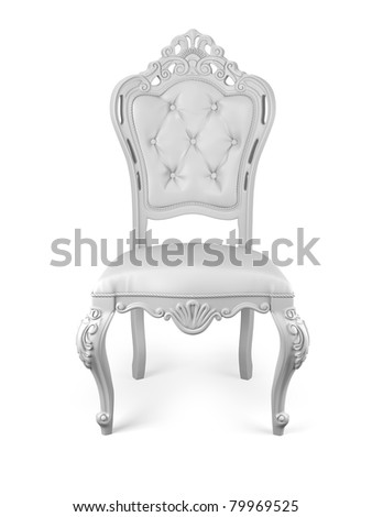 classic chair isolated on white