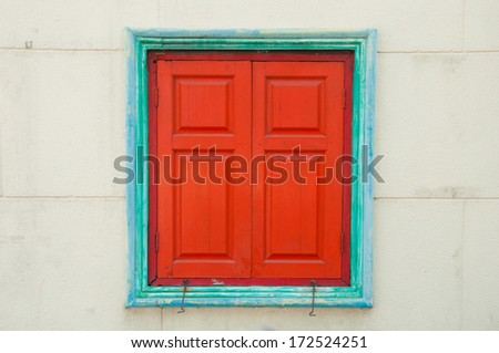 Classic Chinese wooden window - stock photo