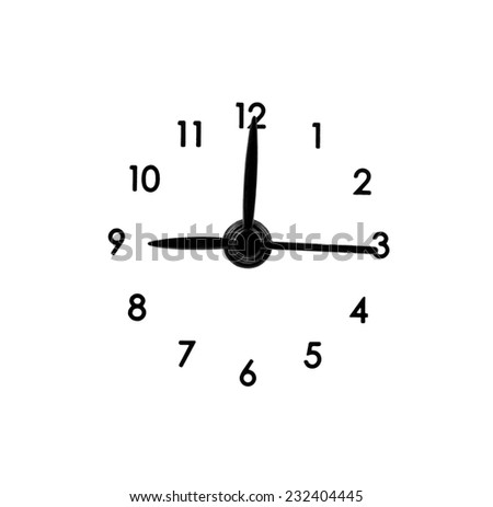 classic clock dial on a white background - stock photo
