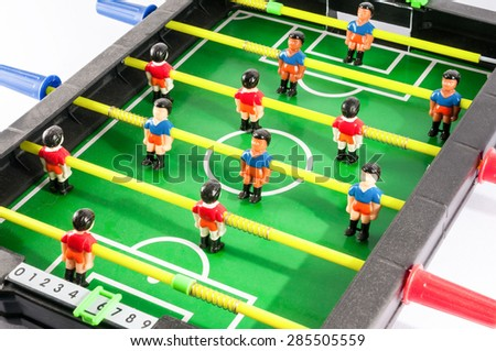 Classic Colored Plastic Foosball Football Toy Game