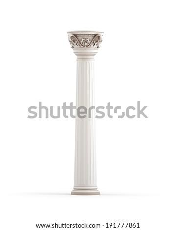 Classic Column - stock photo