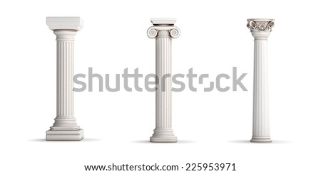 Classic Columns - stock photo