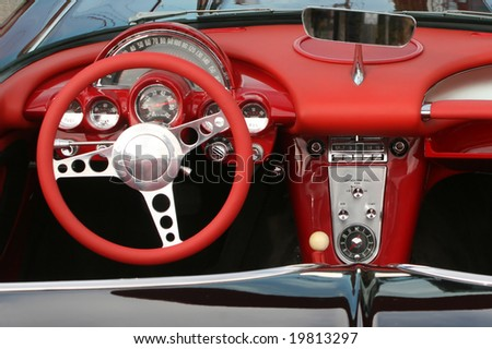 Classic convertible sports car from 1961 - stock photo