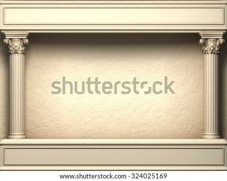 Classic Corinthian Pillars Arc - stock photo