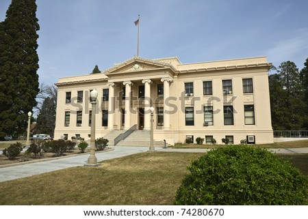 Classic County Courthouse in the Western United States. - stock photo