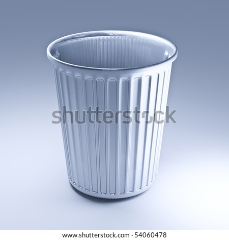 classic 3d trash can fine illustration