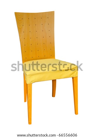 Classic design chair isolated with clipping path included