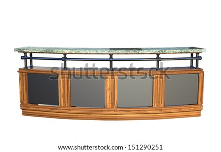 Wooden spice rack isolated on white stock photo 163648931 - Classic bar counter design ...
