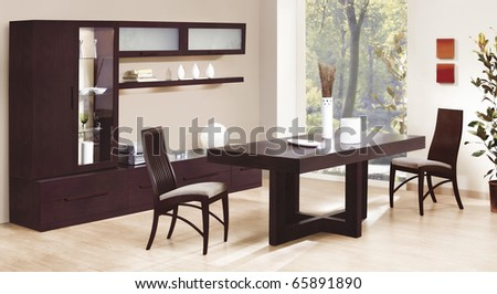 classic dinning room - stock photo