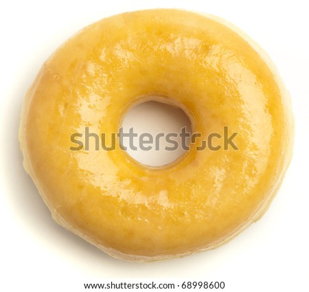 classic donut isolated on a white background - stock photo