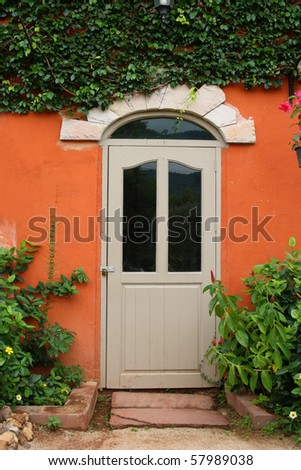 Classic door. - stock photo