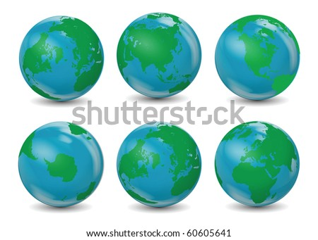 Classic Earth Globes - stock photo