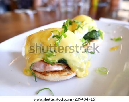 Classic Egg Benedict - stock photo