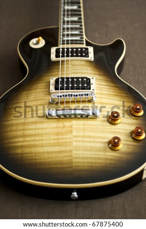 Classic Electric Guitar in Les Paul Style - stock photo