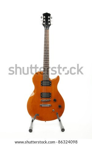 Classic electric guitar on white background