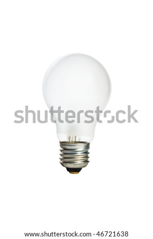 Classic Electric light bulb isolated on white - stock photo