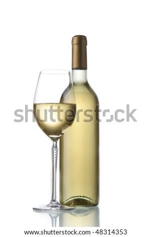 classic elegant white wine - stock photo