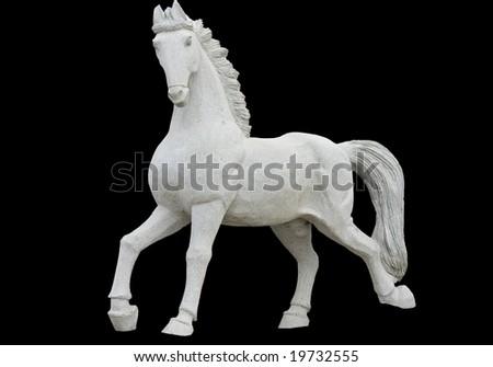 Classic era greek ancient replica statue of a horse - stock photo