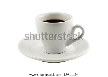 Classic espresso cup isolated on white background - stock photo