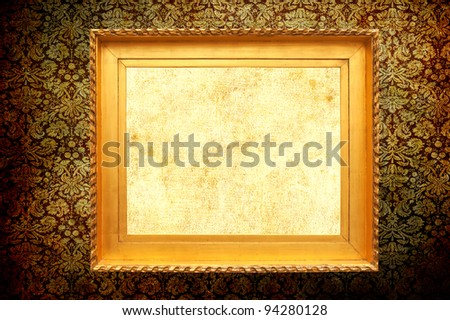 Classic frame and vintage background - stock photo