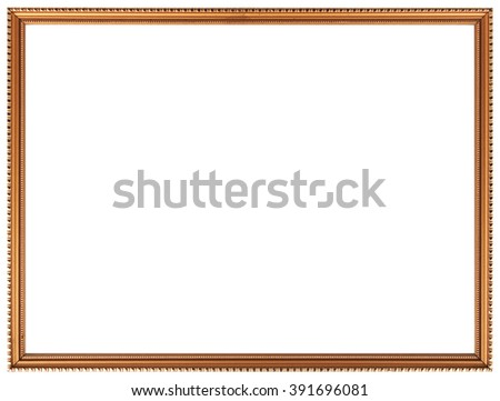 Classic frame. Gold frame isolated on a white background. - stock photo