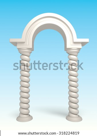 Classic Greek Arc - stock photo