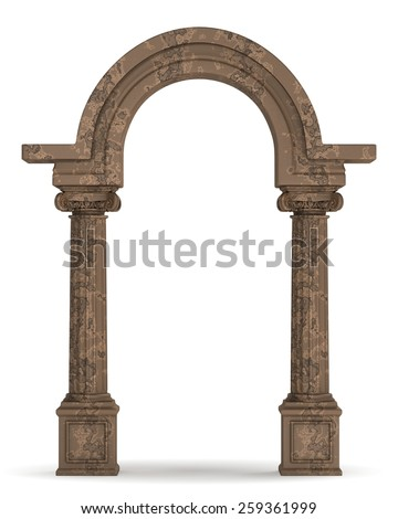 Classic Greek Column Arc - stock photo