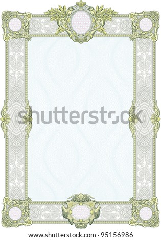 Classic guilloche background like those seen on diplomas, stock certificates, etc. - stock photo