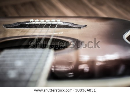 classic guitar - stock photo