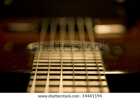 Classic guitar detail - stock photo