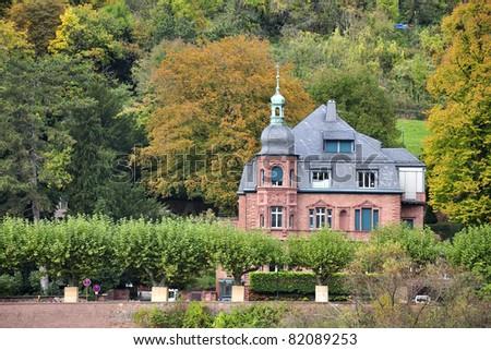 Classic house at Heidelberg Germany - stock photo