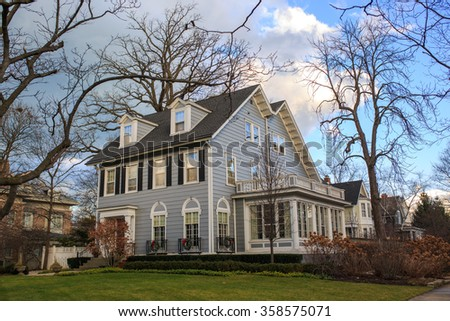 Classic house in Evanston, IL - stock photo