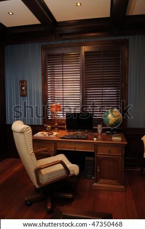 Classic interior design of cabinet boss room - stock photo