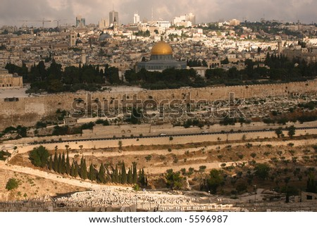 Classic Jeruslem Landscape - stock photo