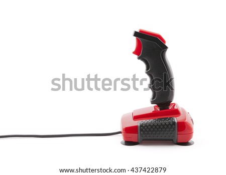 Classic joystick with clipping path  - stock photo