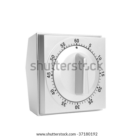 Classic kitchen timer, isolated - stock photo