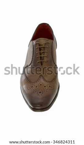 Classic leather man shoe