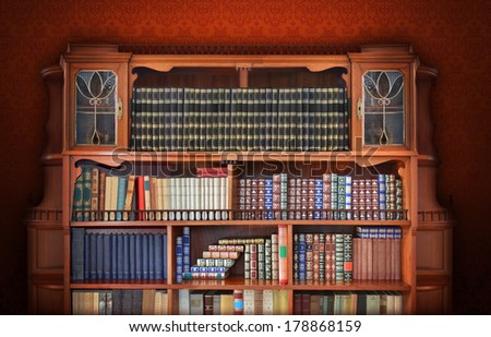 Classic library.  - stock photo